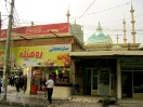 Juice bar, one of my faves. The mosque, with its cacophony, not so much.