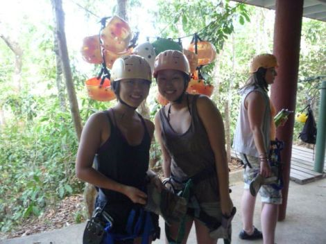 zip-line into the Costa Rican jungle in Montezuma
