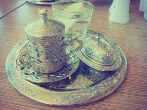 Kurdish coffee. Looked much prettier than it actually tasted.
